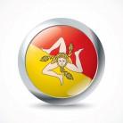 Sicily flag button